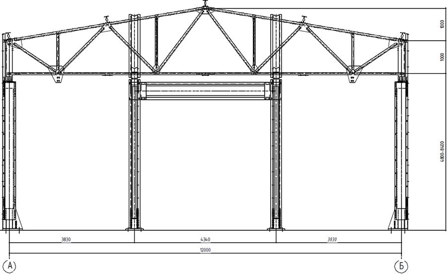 Фасад, ширина 12 метров